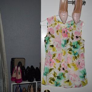 Pastel Color Flower Blouse Size S/P